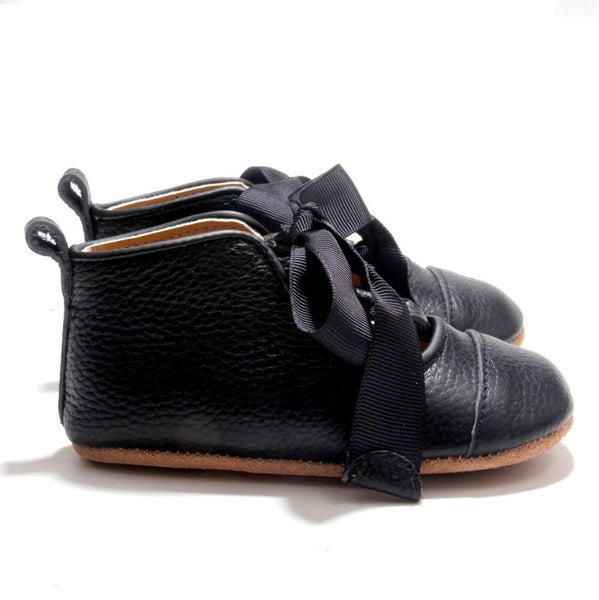 Black Dance Moccasin with Non-Slip Sole