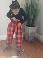 Plaid Paperbag Pant