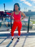 Women's Fire Red Activewear