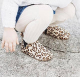Animal Print Moccasin Boot with Anti-Slip Sole