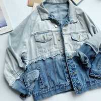 Two Tone Denim Jacket (Embroidery available)