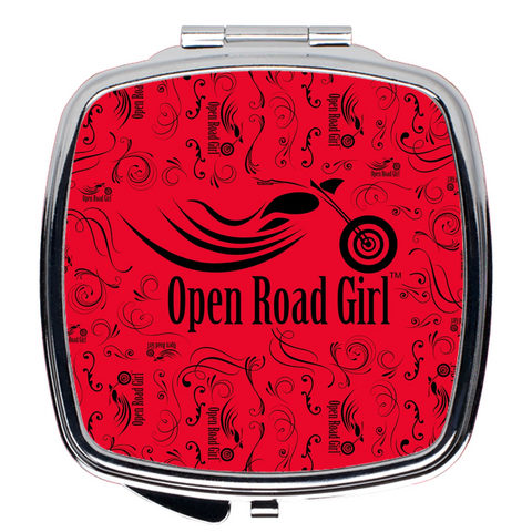 RED Open Road Girl Compact Mirrors, 2 Styles