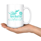 TEAL OPEN ROAD GIRL 15OZ MUG, 2 STYLES