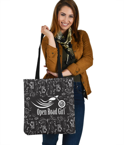 Black & White Scatter Cloth Tote