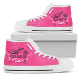 Swirl White Sole Open Road Girl Hi Top Shoes