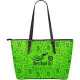 Scatter Open Road Girl Large PU Leather Tote, 10 COLORS