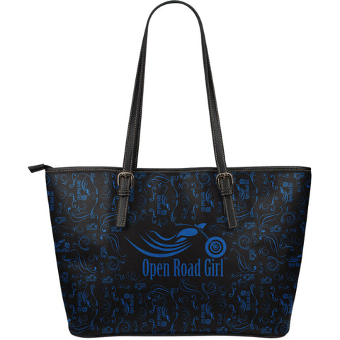 Scatter Open Road Girl LARGE PU LEATHER Tote, 9 COLORS