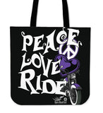 Love, Peace, Ride CLOTH TOTE, 5 Colors
