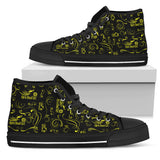 Scatter Design Open Road Girl Canvas Hi-Tops, 10 COLORS
