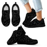 BLACK SCATTER DESIGN-10 COLORS-Open Road Girl CHILDS Tennis Shoes with Black Soles