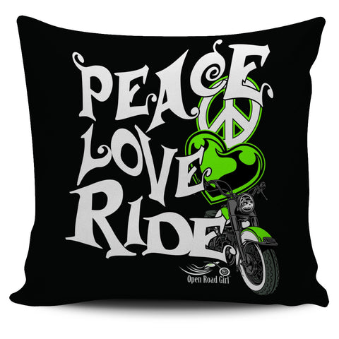 Peace Love Ride Pillow Cover, 5 COLORS