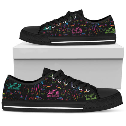 RAINBOW Scatter Design Open Road Girl Canvas Shoes
