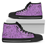 Solid Open Road Girl Scatter Canvas High-Top, 10 COLORS