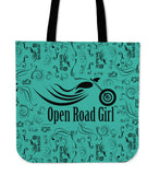 Open Road Girl CLOTH Tote, 10 COLORS
