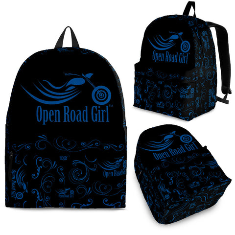 Open Road Girl Scatter Design Backpack, 10 COLORS