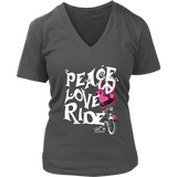 PINK Peace Love Ride Women's V-Neck Shirt