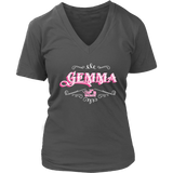 PINK Gemma Women's V-Neck T-Shirt-Short Sleeve