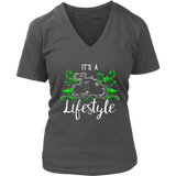 GREEN It's a Lifestyle Women's V-Neck T-Shirt-Short Sleeve