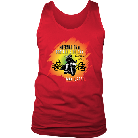 2021 IFRD Red/Yellow Open Road Girl UNISEX Wideback Tank Top, 4 COLORS