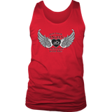 RED OR BLUE May your Angels Always Ride with You UNISEX Tank Top (2) COLORS