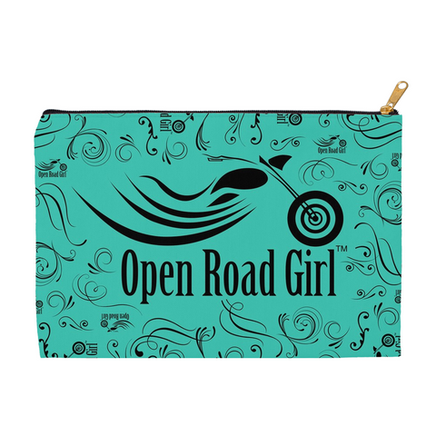 TEAL Open Road Girl Accessory Bags, 2 Sizes