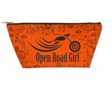 ORANGE Open Road Girl Large Accessory Bags, 2 Sizes