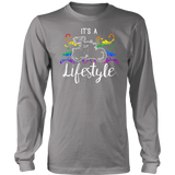 RAINBOW It's a Lifestyle UNISEX Long Sleeve T-Shirt- Crewneck