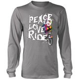 RAINBOW PEACE LOVE RIDE UNISEX LONG SLEEVE SHIRT