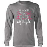 PINK It's a Lifestyle UNISEX Long Sleeve T-Shirt- Crewneck