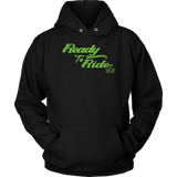 GREEN READY TO RIDE UNISEX PULLOVER HOODIE