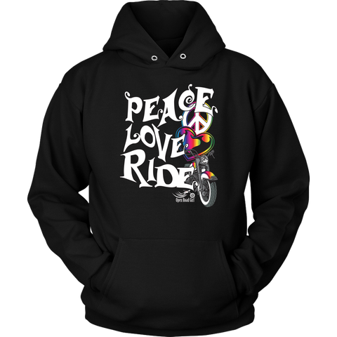 RAINBOW Peace Love Ride Sweatshirt UNISEX Hoodie