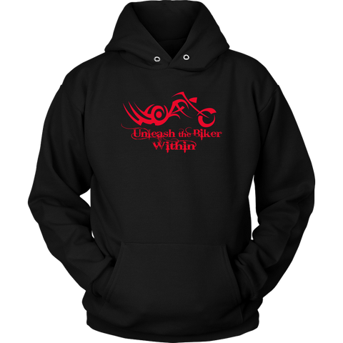 RED Unleash The Biker Within Sweatshirt UNISEX Hoodie