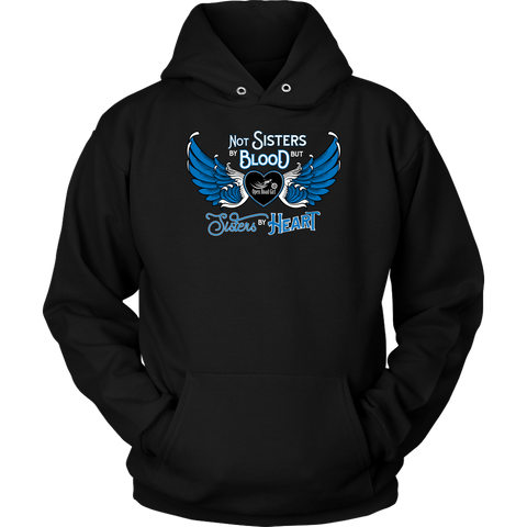 BLUE NOT SISTERS BY BLOOD...OPEN ROAD GIRL UNISEX PULLOVER SWEATSHIRT