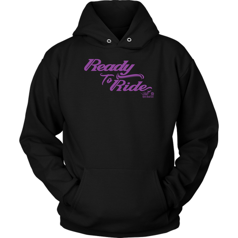 PURPLE READY TO RIDE UNISEX PULLOVER HOODIE
