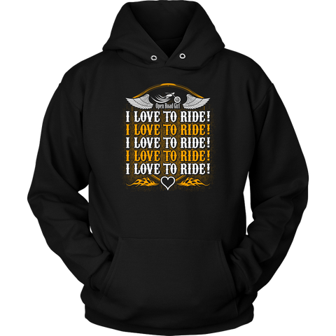 ORANGE  I Love To Ride UNISEX Sweatshirt-Hoodie