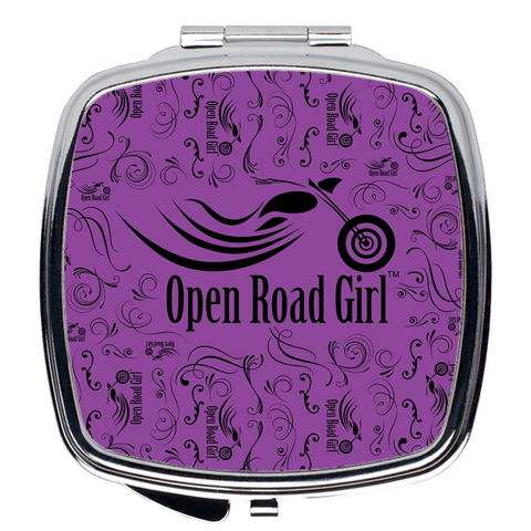 PURPLE Open Road Girl Compact Mirrors, 2 Styles