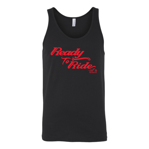 RED READY TO RIDE UNISEX WIDE BACK TANK TOP