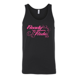 PINK Ready to Ride with Swirls UNISEX Wide Back Tank Top