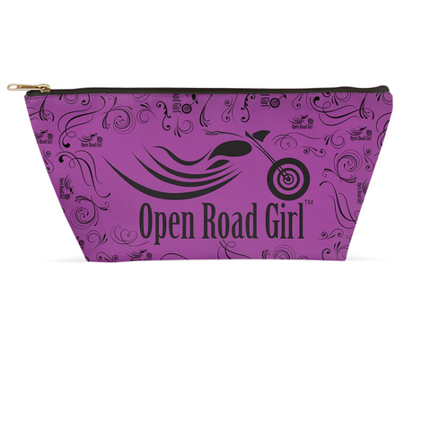PURPLE Open Road Girl Large Accessory Bags, 2 Sizes