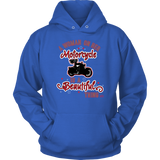 RED A Woman on her Motorcycle is a Beautiful Thing UNISEX Hoodie