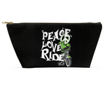 GREEN Peace, Love, Ride Large Accessory Bags, 2 Sizes