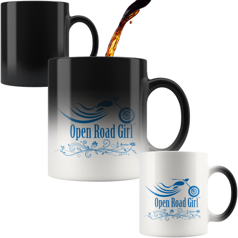 BLUE Open Road Girl 11oz Magic Mug, 2 STYLES