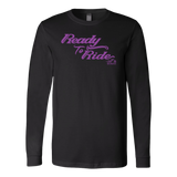PURPLE READY TO RIDE UNISEX LONG SLEEVE TEE