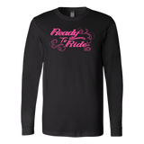 PINK Ready to Ride with Swirls UNISEX Long Sleeve Tee