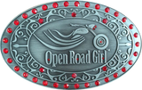 Open Road Girl Rhinestone Belt Buckle