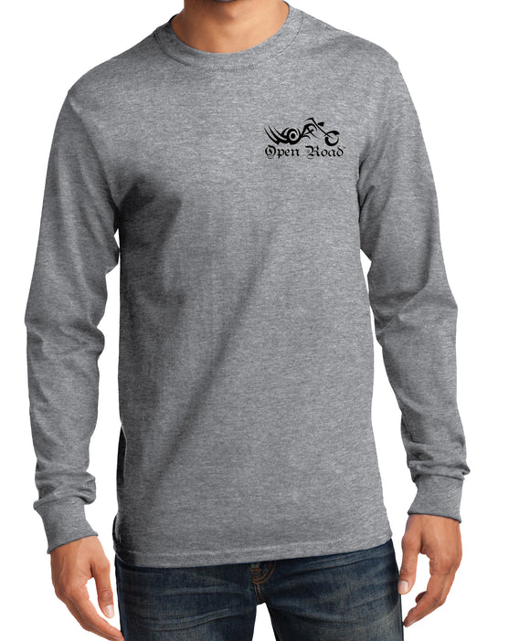 I Ride with An Open Road Girl Long Sleeve Men's T-Shirt, 2 Colors