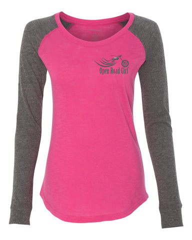 Open Road Girl Long Sleeve Patch Shirt, 3 Colors