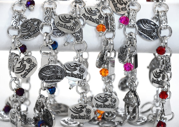 Open Road Girl Charm Bracelet