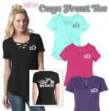 Open Road Girl Cage Front T-Shirt, 4 COLORS