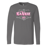 PINK NANNIE UNISEX LONG SLEEVE T-SHIRT- CREWNECK